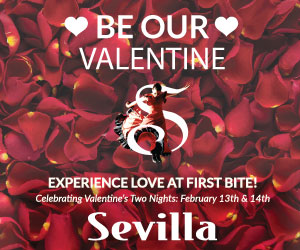 Cafe Sevilla Valentine's Day 2019 300 x 250