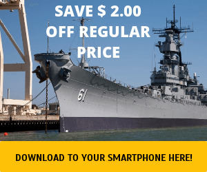 WEB COUPON USS IOWA 2019 $2.00 OFF