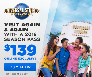Universal Studios Hollywood 2019 Season Pass 300 x 250