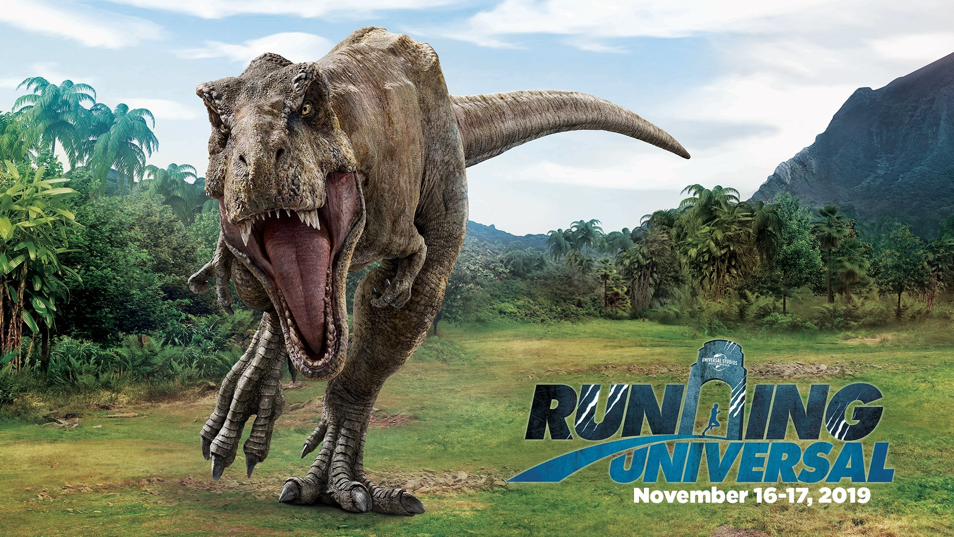 Running Universal featuring Jurassic World
